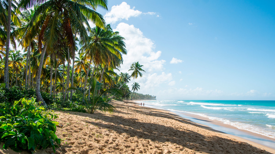 Costa cerca de Puerto Plata, en la República Dominicana